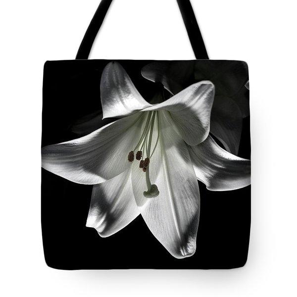 Dark Lilly Tote Bag