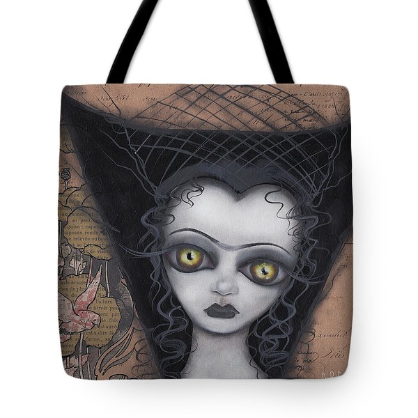 Dark Lily Tote Bag by Abril Andrade Griffith