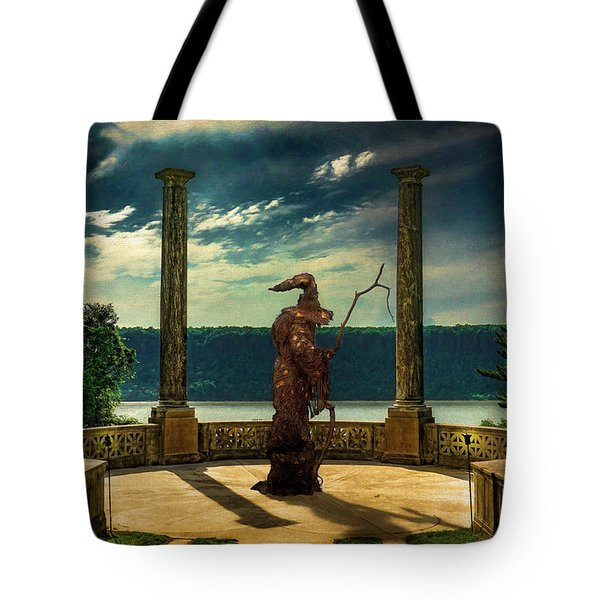 Tote Bag featuring the photograph Dark Magic At Sunset By The Hudson by Chris Lord