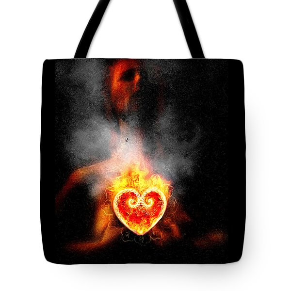 Tote Bag featuring the painting Dark Night Of The Soul by Robby Donaghey