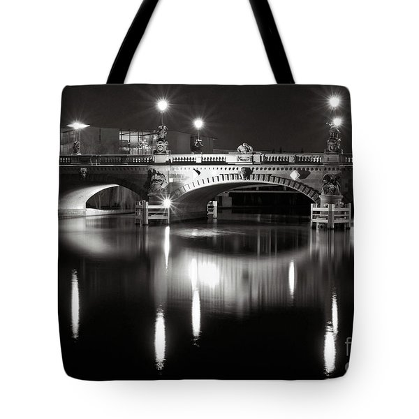 Dark Nocturnal Sound Of Silence Tote Bag