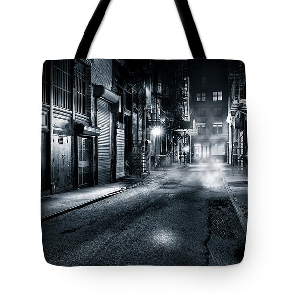 Tote Bag featuring the photograph Dark Nyc by Mihai Andritoiu