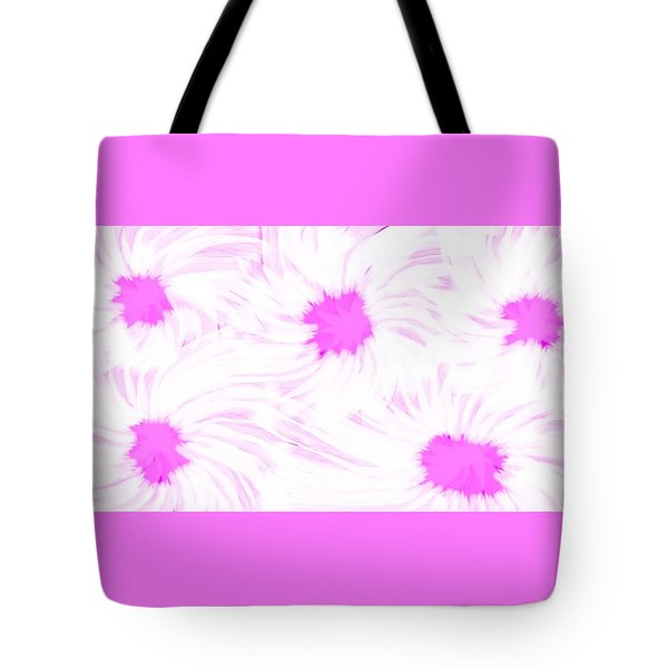 'dark Pink And White Flower Abstract' Tote Bag