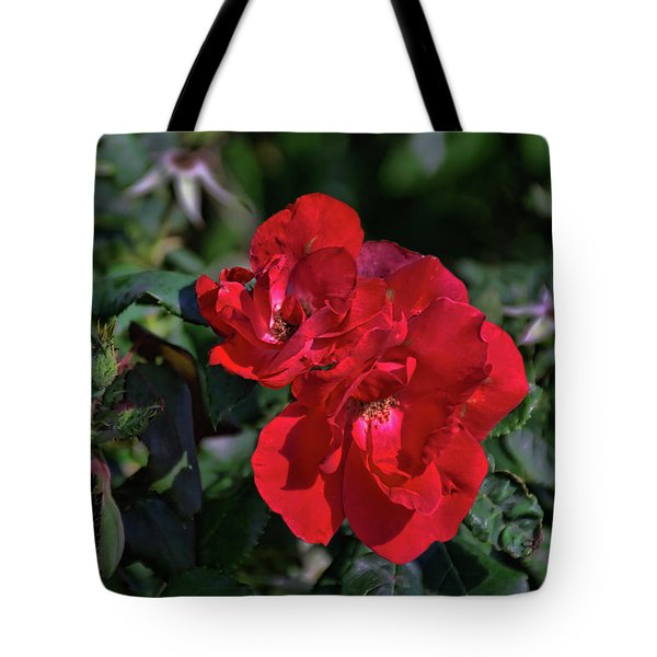 Red Flower Tote Bag by Tim McCullough