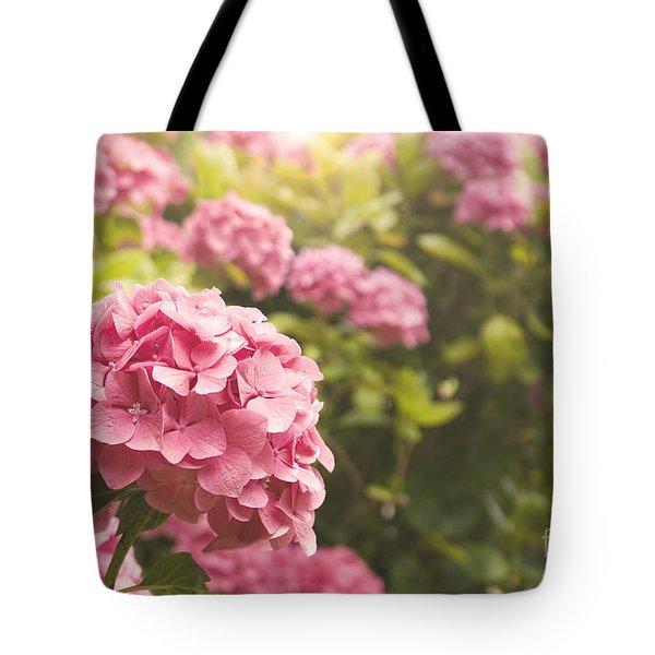 Dark Pink Hydrangea Tote Bag
