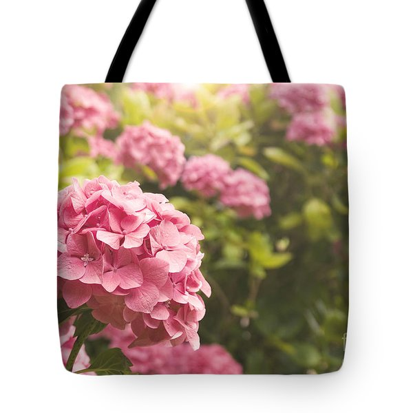 Dark Pink Hydrangea Tote Bag by Cindy Garber Iverson
