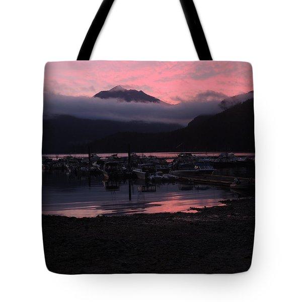 Dark Pink Sunset Tote Bag