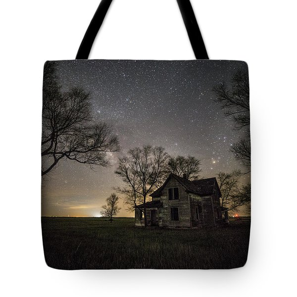 Dark Places On The Prairie  Tote Bag by Aaron J Groen