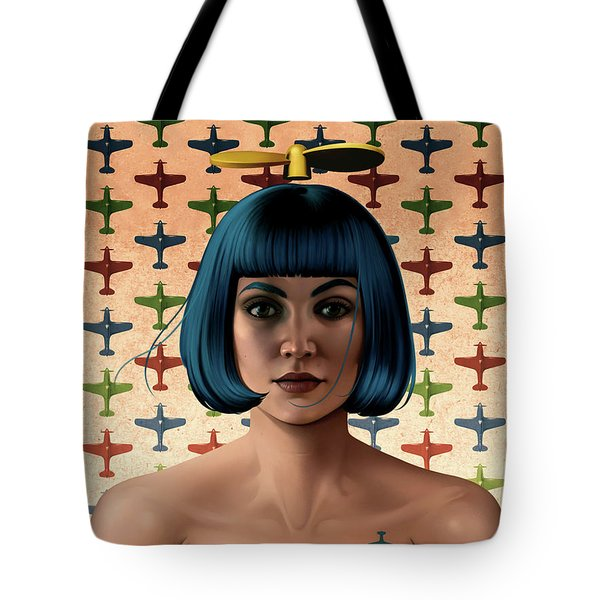 Dark Propeller Gal Tote Bag