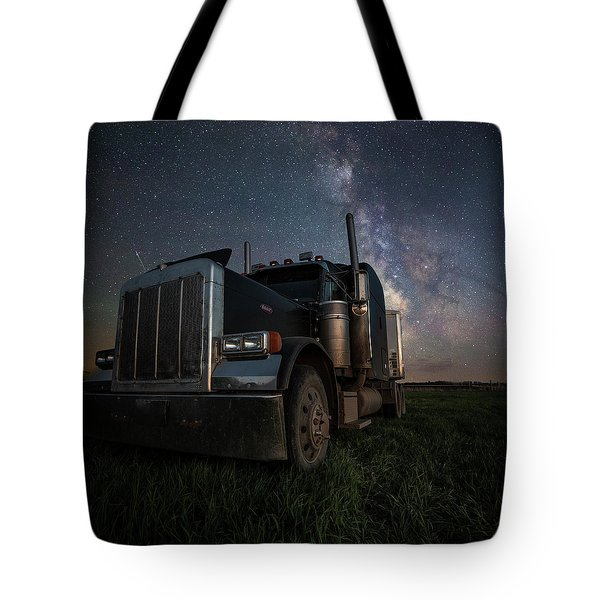 Tote Bag featuring the photograph Dark Rig by Aaron J Groen