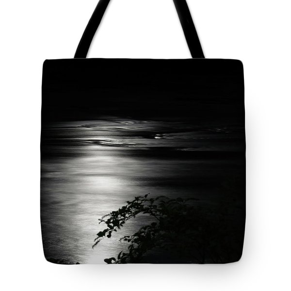 Tote Bag featuring the digital art Dark River by Kathleen Illes
