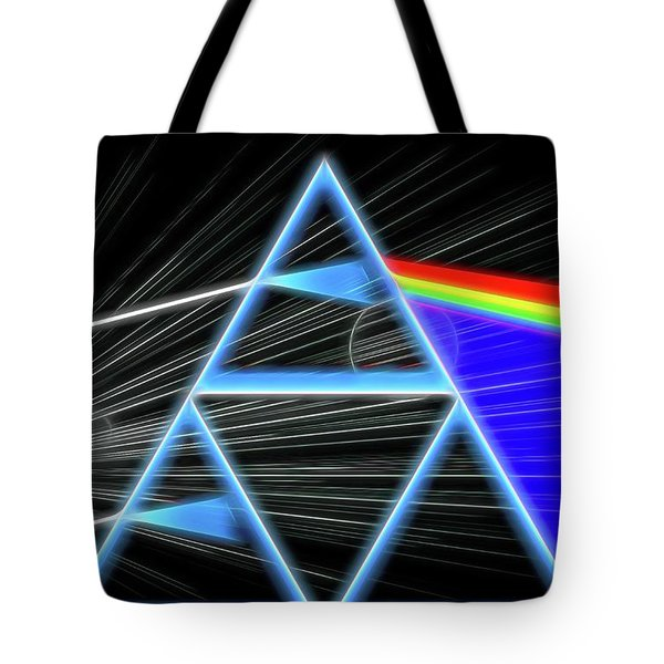 Tote Bag featuring the digital art Dark Side Of The Moon by Dan Sproul