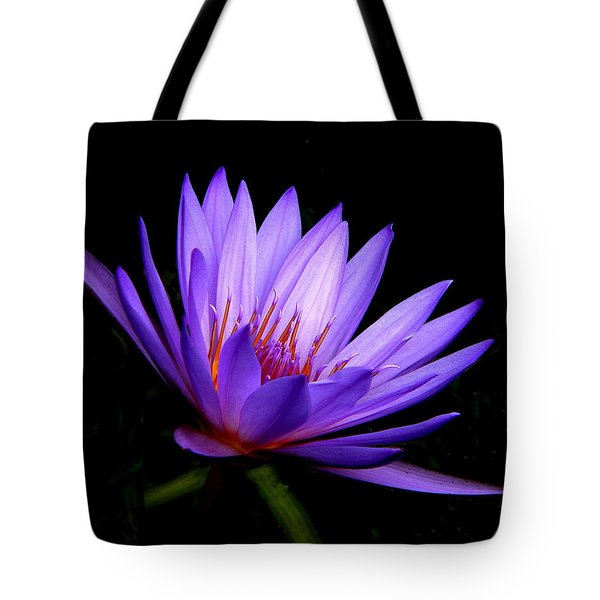 Dark Side Of The Purple Water Lily Tote Bag