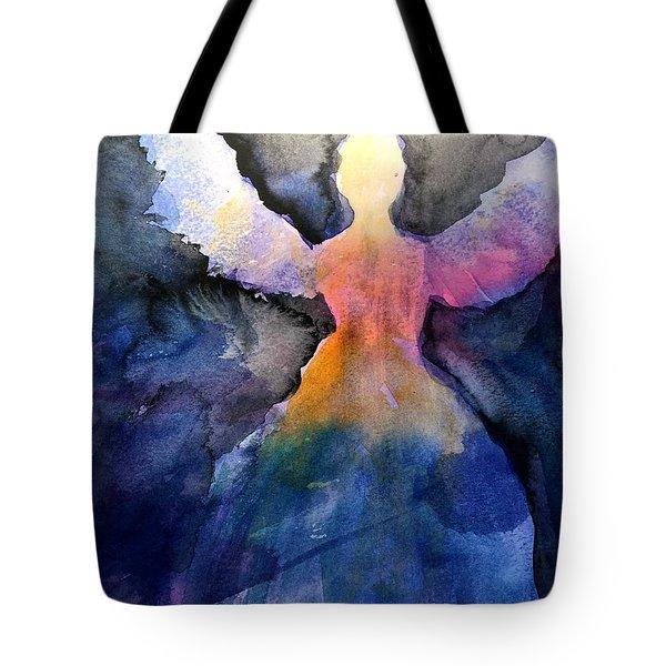 Dark Skies Angel Tote Bag by Jeanne MCBRAYER