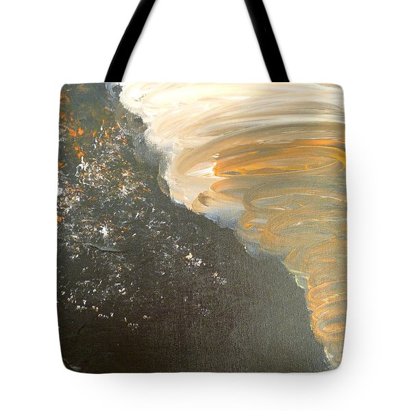 Tote Bag featuring the painting Dark Storm by Barbara Yearty