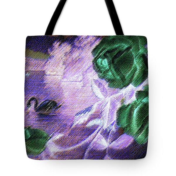 Dark Swan And Roses Tote Bag