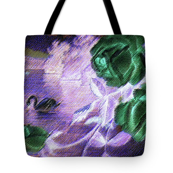 Dark Swan And Roses Tote Bag