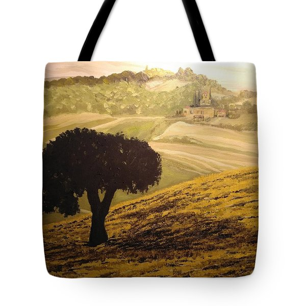 Dark Tree In The Vast Tote Bag