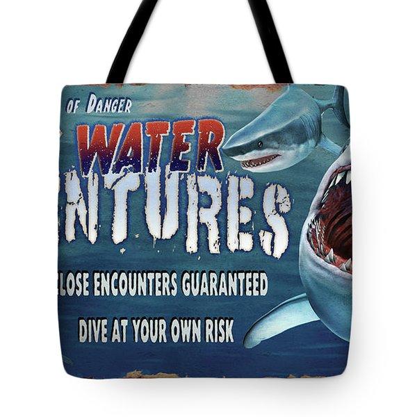 Dark Water Adventure Tote Bag