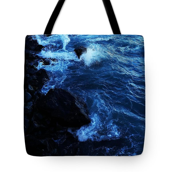 Tote Bag featuring the digital art Dark Water by Julian Perry