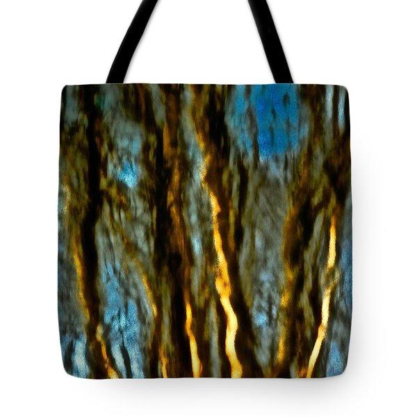 Dark Wood Tote Bag by Gillis Cone