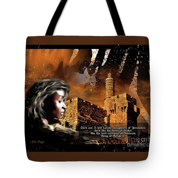 Tote Bag featuring the digital art Dark Yet Lovely by Jennifer Page