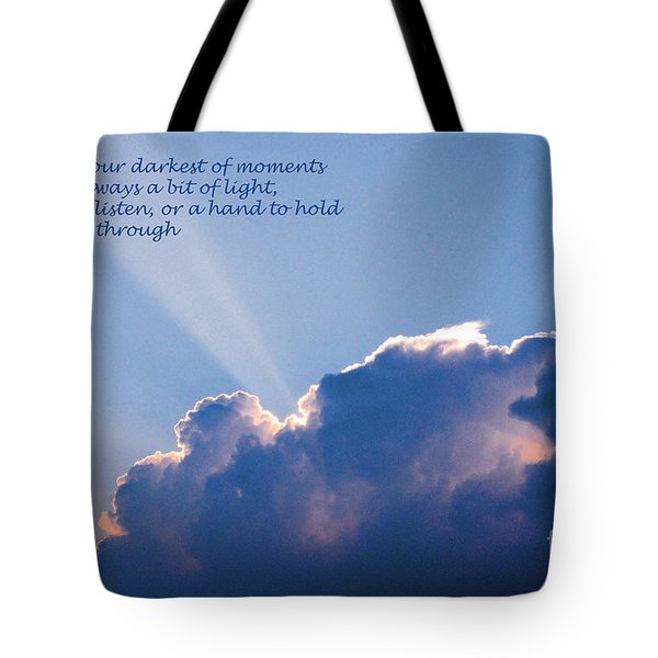 Darkest Of Moments Tote Bag