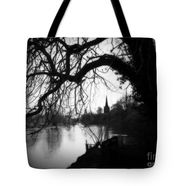 Tote Bag featuring the photograph Darkness Looms Over The Avon by Sue Melvin