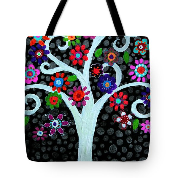 Tote Bag featuring the painting Darkness Of Light by Pristine Cartera Turkus