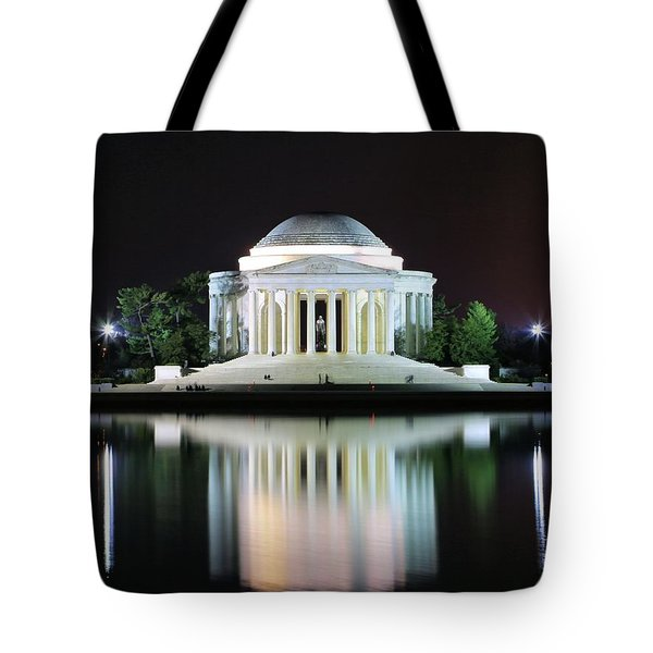 Darkness Over The Jefferson Memorial Tote Bag