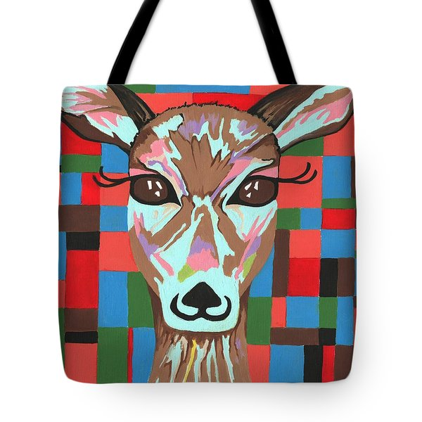 Tote Bag featuring the painting Darling Deer by Kathleen Sartoris