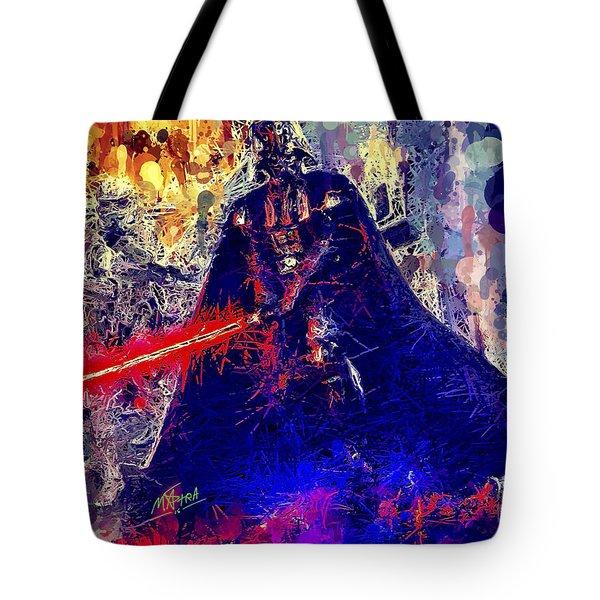 Tote Bag featuring the mixed media Darth Vader by Al Matra