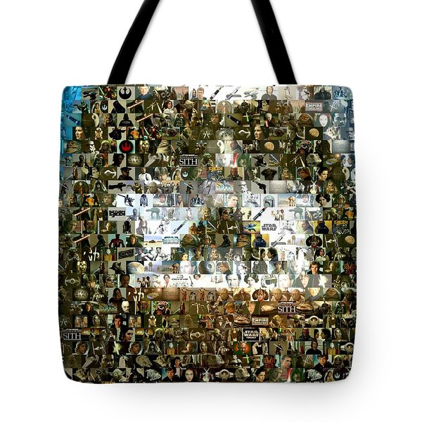 Darth Vader Mosaic Tote Bag by Paul Van Scott
