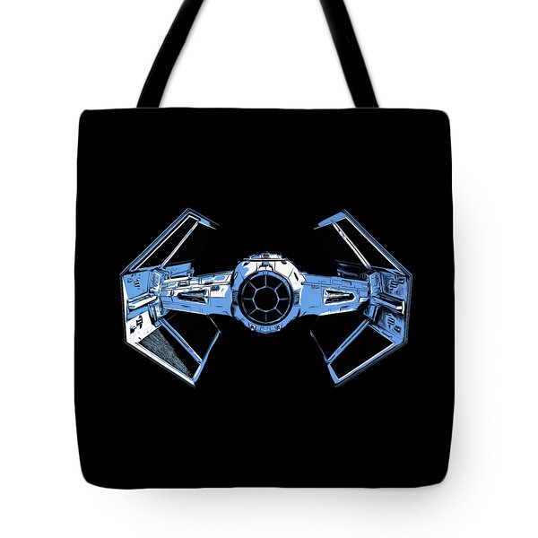 Darth Vaders Tie Figher Advanced X1 Tee Tote Bag by Edward Fielding