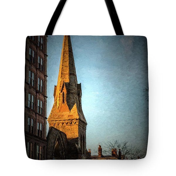 Dartmouth Street In Boston Tote Bag