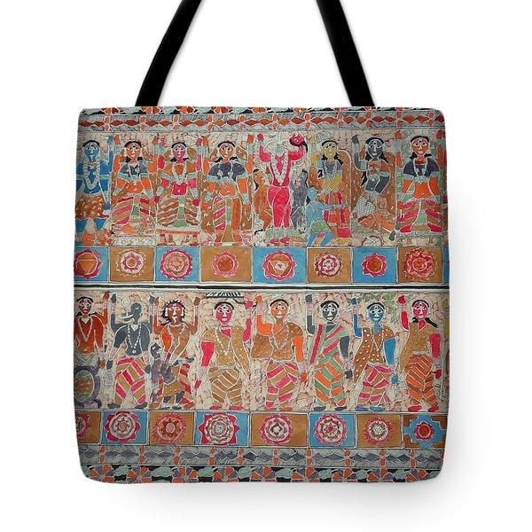 Dashavtar Mithila Painting From Emithilahaat Tote Bag