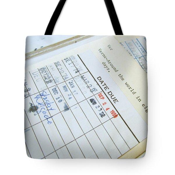 Date Due Tote Bag
