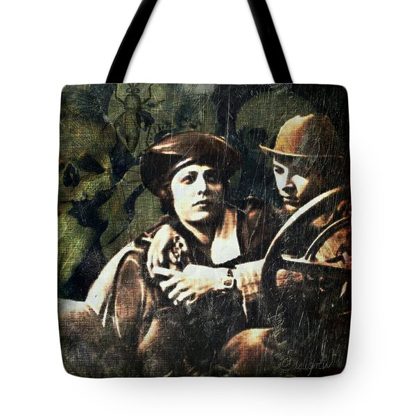 Tote Bag featuring the digital art Date Night by Delight Worthyn