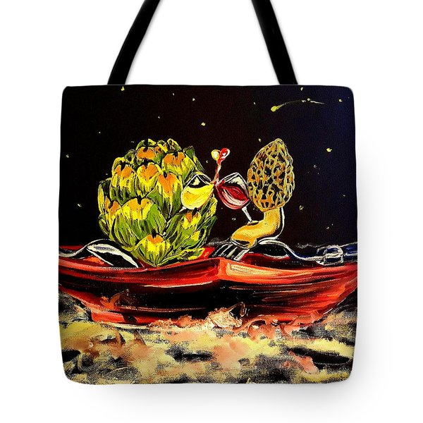 Date On A Plate Tote Bag by Alexandria Weaselwise Busen