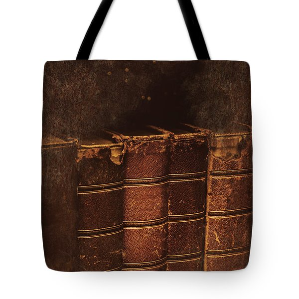 Dated Textbooks Tote Bag