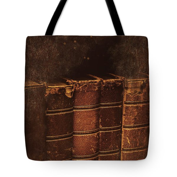 Tote Bag featuring the photograph Dated Textbooks by Jorgo Photography - Wall Art Gallery