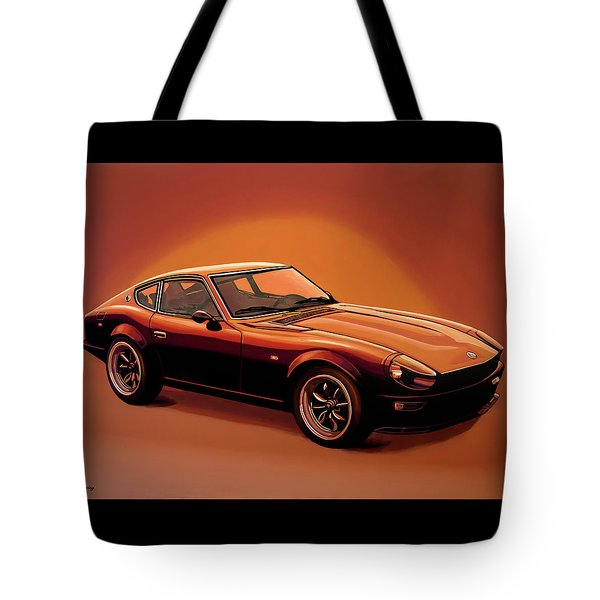 Datsun 240z 1970 Painting Tote Bag