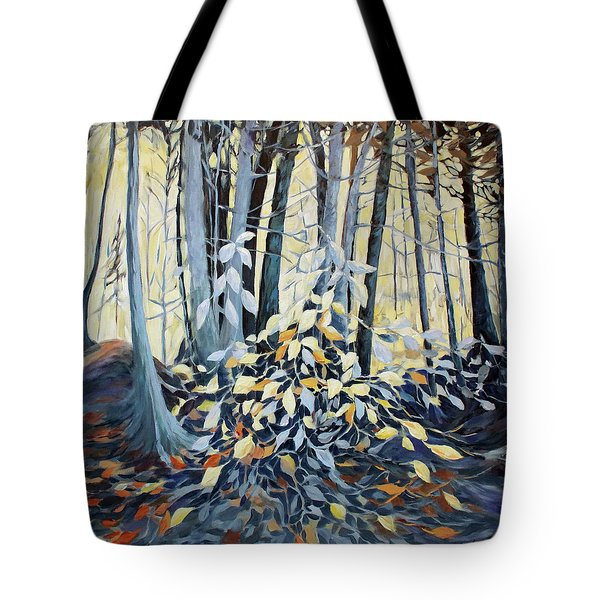 Tote Bag featuring the painting Natures Dance by Joanne Smoley