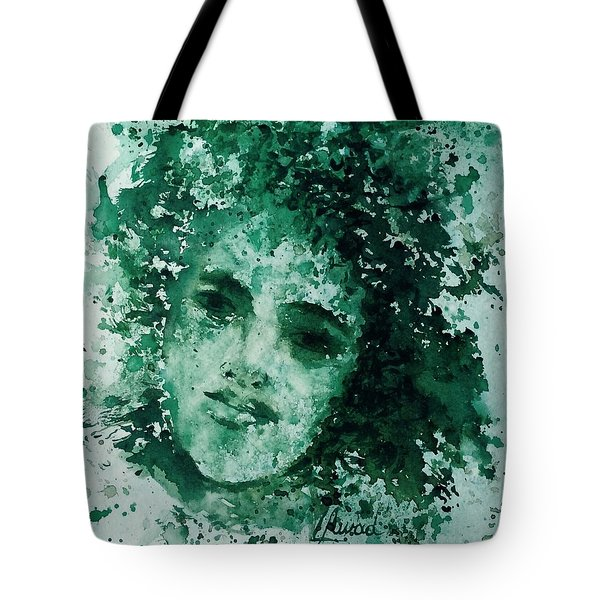 Tote Bag featuring the painting Daughter Of Nature by Laila Awad Jamaleldin