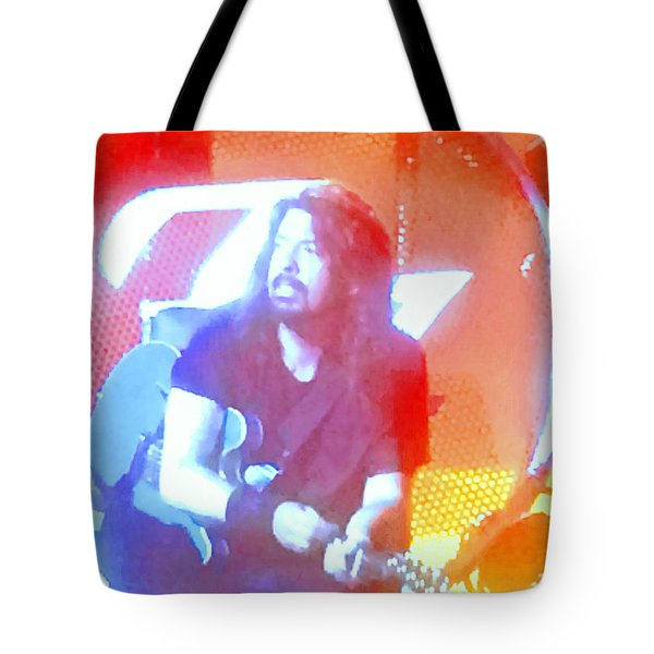 Dave Grohl In Concert Tote Bag