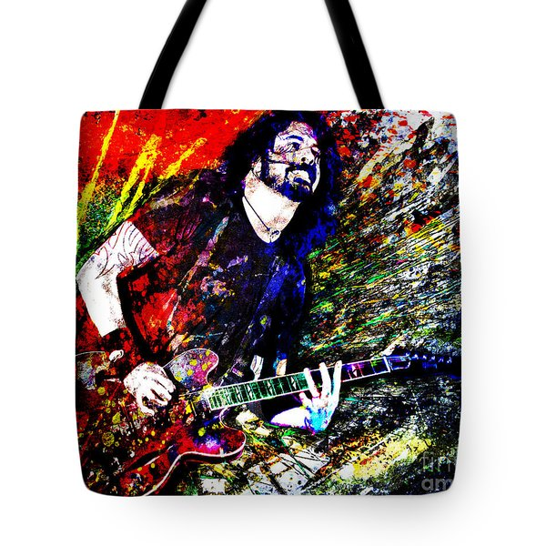 Dave Grohl Art  Tote Bag