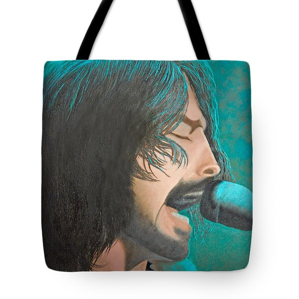 Dave Grohl Of The Foo Fighters Tote Bag