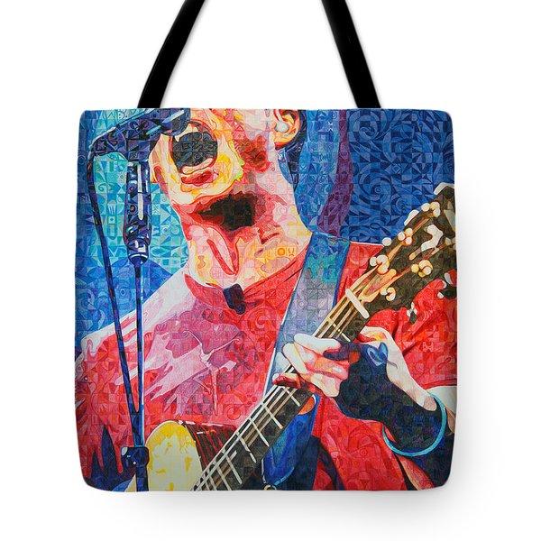 Dave Matthews Squared Tote Bag by Joshua Morton