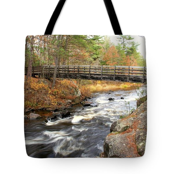 Tote Bag featuring the photograph Dave's Falls #7480 by Mark J Seefeldt