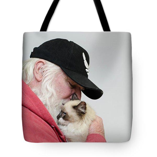 David And Mr Atkin Tote Bag